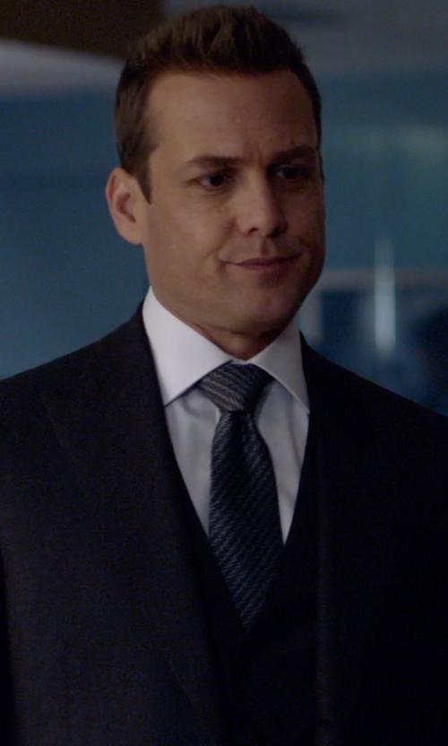 Gabriel Macht with Hugo Boss Diagonal Stripe Silk Tie in Suits
