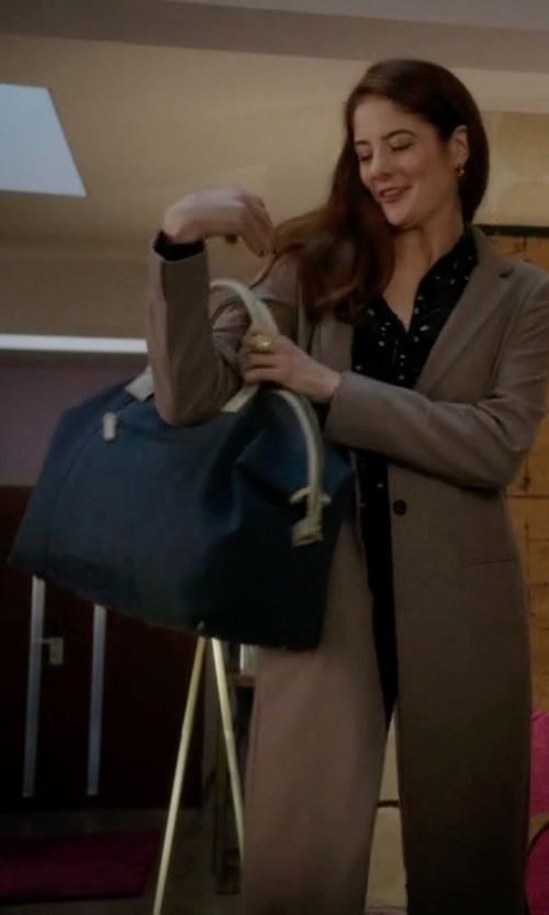 Emily Tremaine with Dooney & Bourke Carley Madeline Bag in Guilt