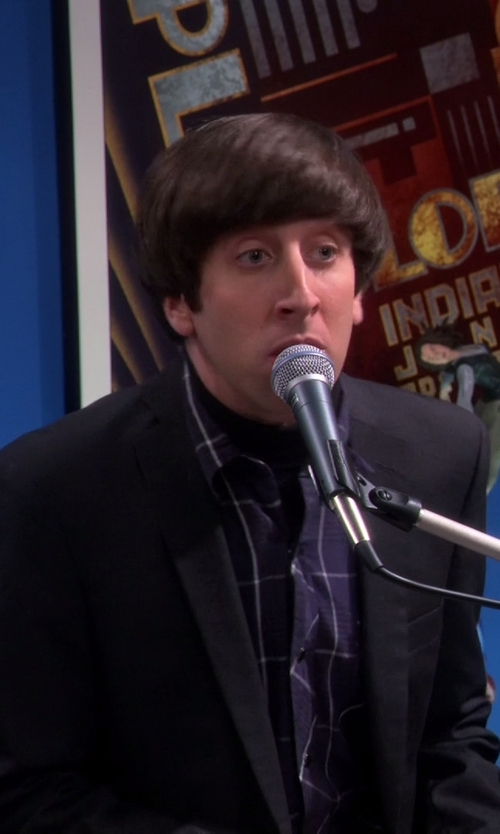 Simon Helberg with Wooyoungmi Notched Lapel Blazer in The Big Bang Theory