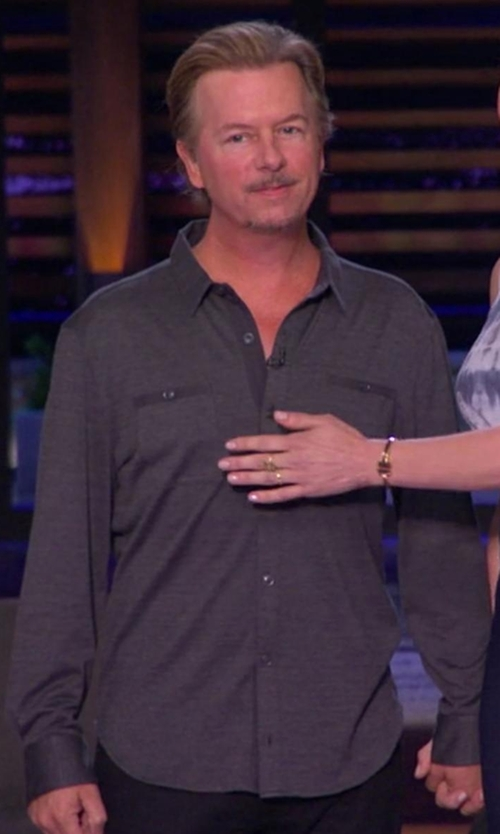 David Spade with Rag & Bone Button Down Shirt in Chelsea