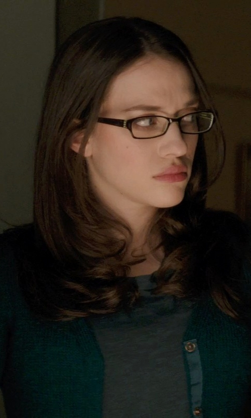 Kat Dennings with Gucci Ombre Rectangle Fashion Glasses in Thor: The Dark World