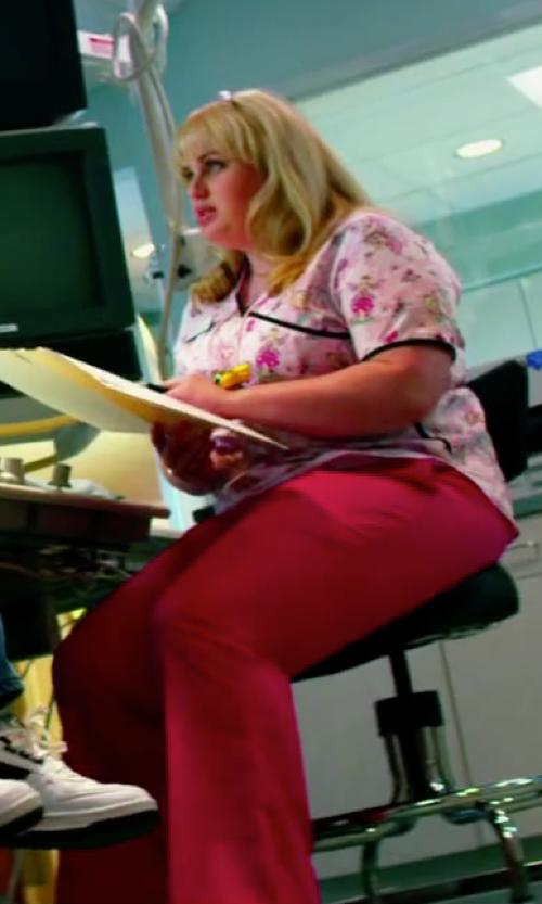 Rebel Wilson with Cherokee Women's Workwear Scrubs Drawstring Pant in Pain & Gain