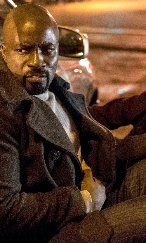 Mike Colter with Hudson Blake Motorhead Slim-Straight Jeans in Marvel's Luke Cage