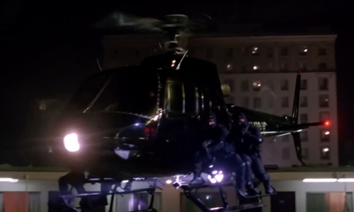 Unknown Actor with Eurocopter Aérospatiale Helicopter in Mr. & Mrs. Smith