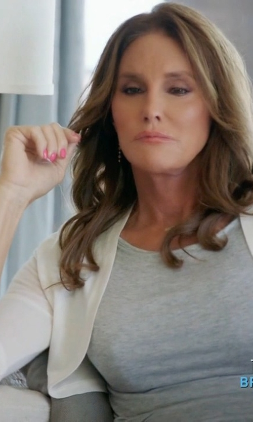 Caitlyn Jenner with Neiman Marcus Cashmere Collection Sequined Silk-Blend Shrug in Keeping Up With The Kardashians