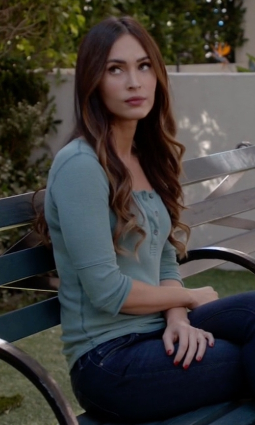 Megan Fox with Royal Robbins Micro-Rib Henley Tee in New Girl