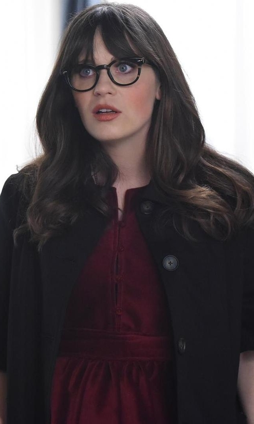 Zooey Deschanel with Publish Vivien Trench Coat in New Girl
