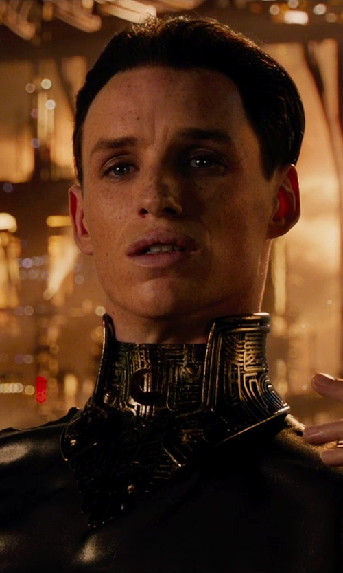 Eddie Redmayne with Kym Barrett (Costume Designer) Custom Made Balem Costume (Balem) in Jupiter Ascending