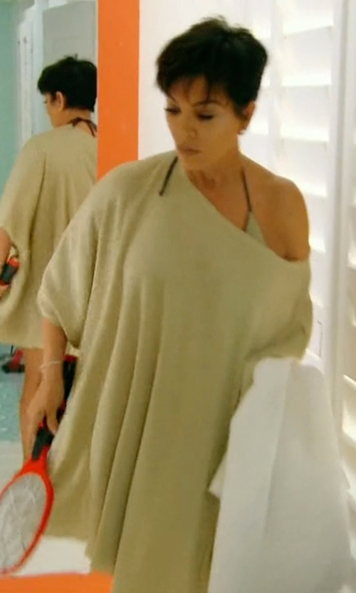 Kris Jenner with 27 Miles Malibu Cashmere Poncho Wrap in Keeping Up With The Kardashians