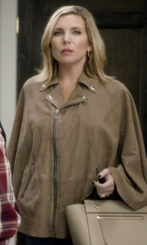 June Diane Raphael with Burberry Wool & Cashmere Military Cape in Grace and Frankie