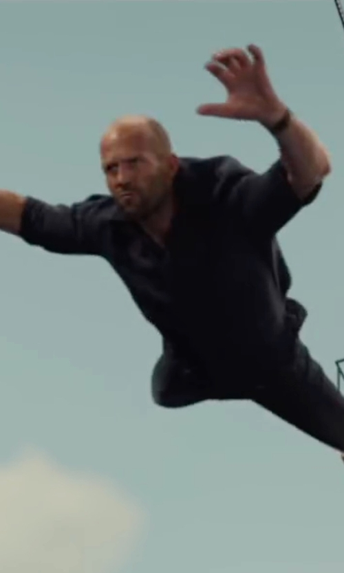 Jason Statham with Theory Stretch-Cotton Shirt in Mechanic: Resurrection