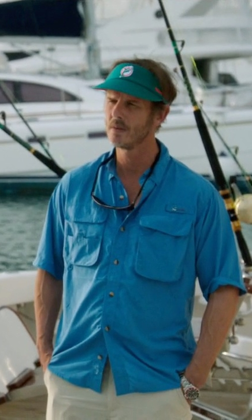 Peter Berg with Banana Republic Slim-Fit Striped Short-Sleeve Utility Shirt in Ballers