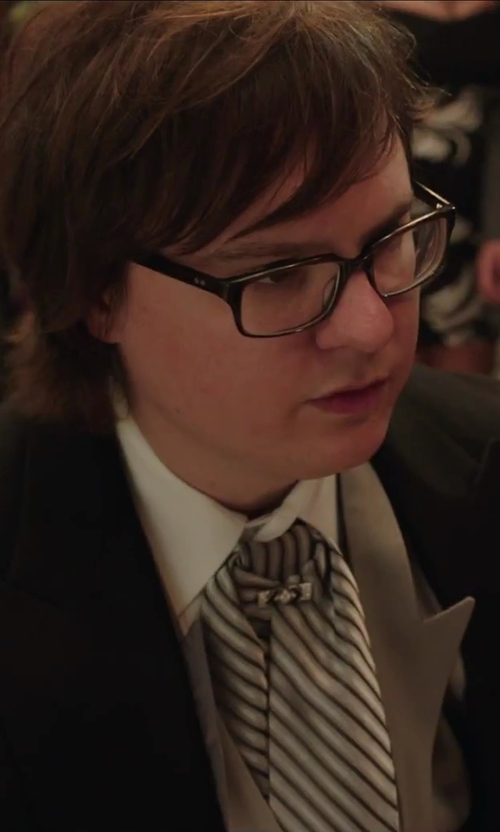 Clark Duke with Kenneth Cole Reaction Men's Stripe II Tie in Hot Tub Time Machine 2