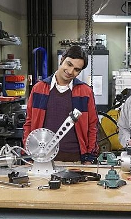 Kunal Nayyar with Croft & Barrow Classic-Fit Solid Sweater Vest in The Big Bang Theory