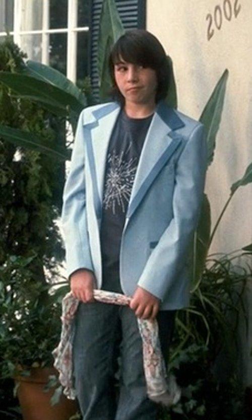 Jonah Bobo with Topman Light Blue Ultra Skinny Jacket in Crazy, Stupid, Love.