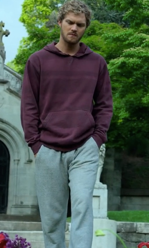 Finn Jones with Uniqlo Drawstring Sweatpants in Marvel's Iron Fist