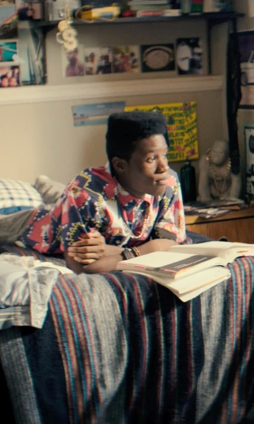 Shameik Moore with Greenland Home Brisbane Quilt Set Comforter in Dope