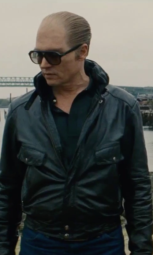 Johnny Depp with A.P.C. Washed Petit New Standard Jeans in Black Mass