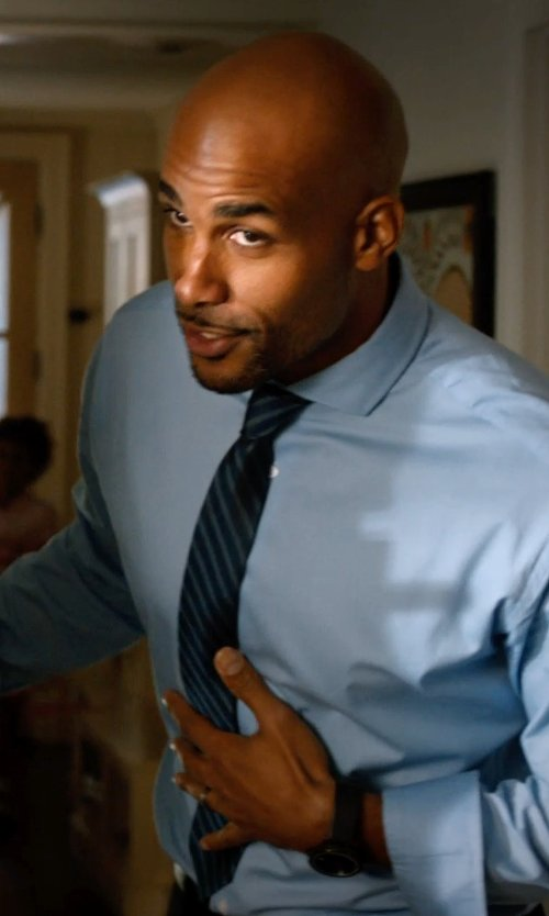 Boris Kodjoe with Theory Roadster Shrewsbury Skinny Tie in Addicted
