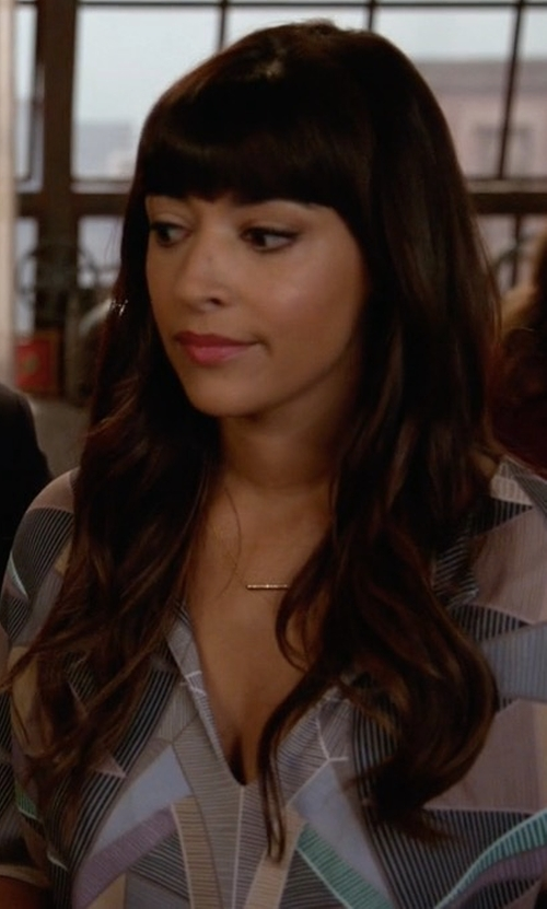 Hannah Simone with Free People Tunic Dress in New Girl