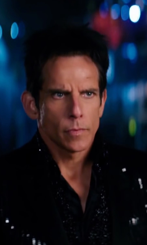 Ben Stiller with Leesa Evans (Costume Designer) Custom Made Shirt in Zoolander 2