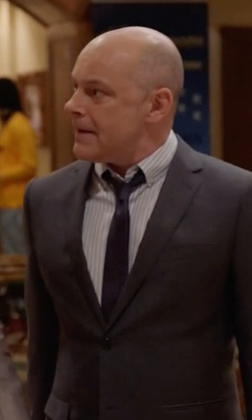Rob Corddry with Boss Hugo Boss Jaiden Track-Stripe Dress Shirt in Ballers