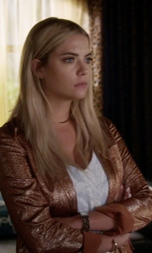 Ashley Benson with Gucci  Liquid Lamé Tailored Jacket in Pretty Little Liars