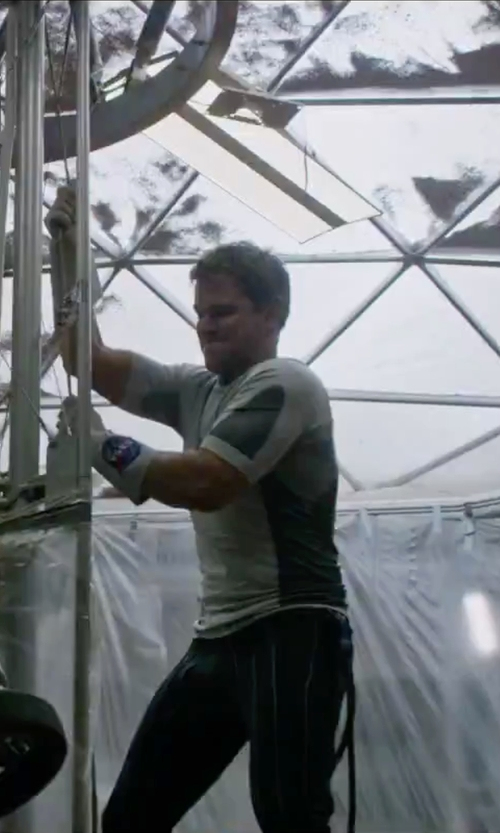 Matt Damon with Nike Legacy Performance Top in The Martian