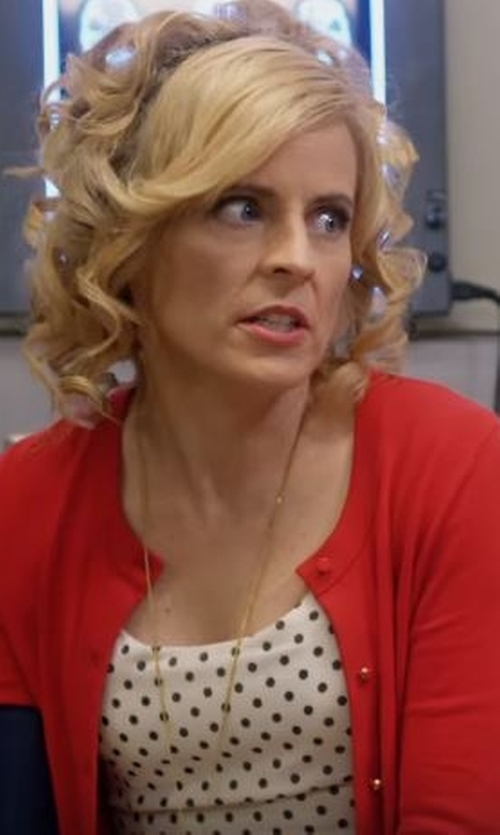 Maria Bamford with Vero Moda Round Collar Cardigan in Lady Dynamite