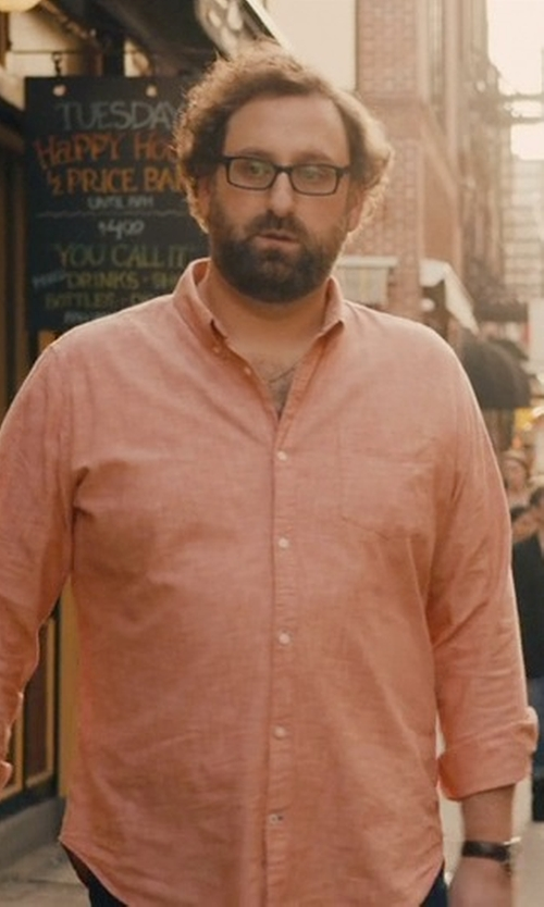 Eric Wareheim with Emporio Armani Stainless Steel Leather Strap Watch in Master of None