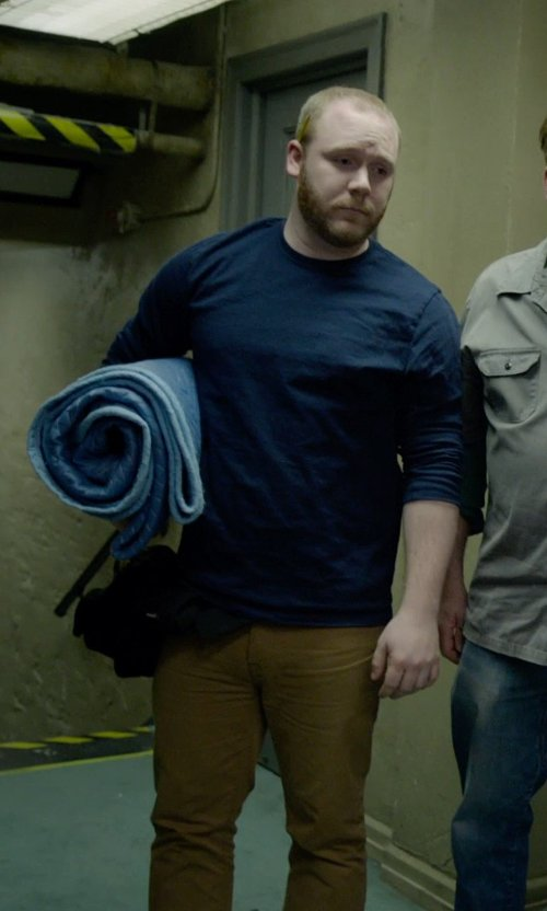 Chris McFarland with Dondup Classic Chino Pants in Birdman