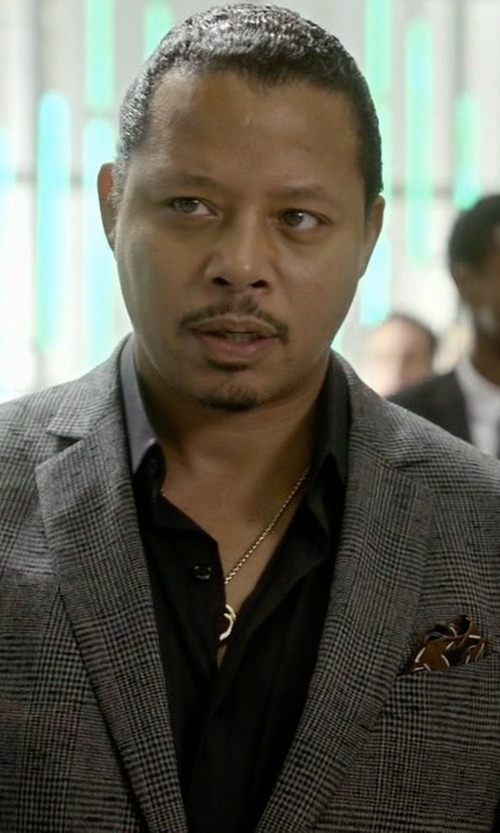 Terrence Howard  with Brunello Cucinelli Plaid Wool Suit in Empire