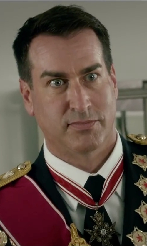 Rob Riggle with Dolce & Gabbana Cotton Woven Dress Shirt in Absolutely Anything