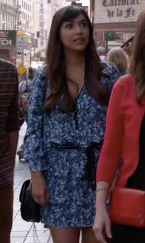 Hannah Simone with Veronica Beard 'Venice' V-Neck Dress in New Girl
