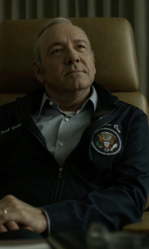 Kevin Spacey with US Wings Presidential Seal Patch in House of Cards
