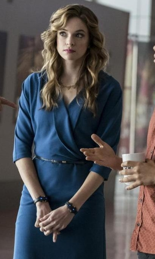 Danielle Panabaker with Diane von Furstenberg New Julian Two Matte Jersey Wrap Dress in The Flash