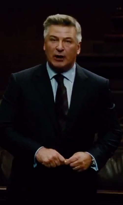 Alec Baldwin with Hugo Boss Stripe Silk Tie in Mission: Impossible - Rogue Nation