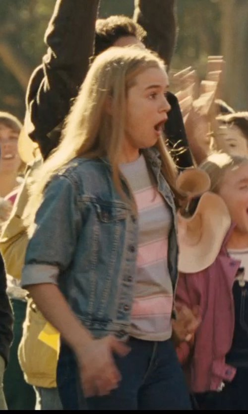 Morgan Saylor with Old Navy Denim Jacket in McFarland, USA