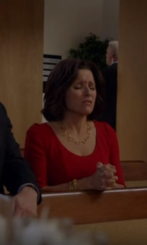 Julia Louis-Dreyfus with Diane Von Furstenberg Lillian Dress in Veep