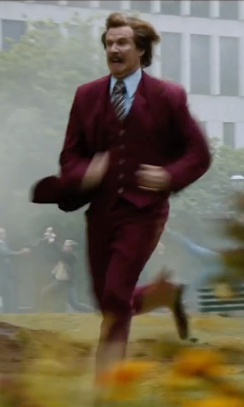 Will Ferrell with ATM Anthony Thomas Melillo Button Down Shirt in Anchorman 2: The Legend Continues