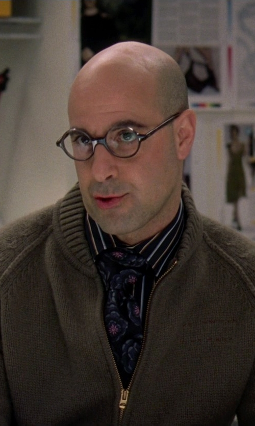 Stanley Tucci with Oliver Peoples Acaetate Eyeglasses in The Devil Wears Prada