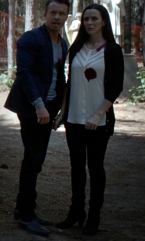 Annie Wersching with Bourne Ankle Boots in The Vampire Diaries