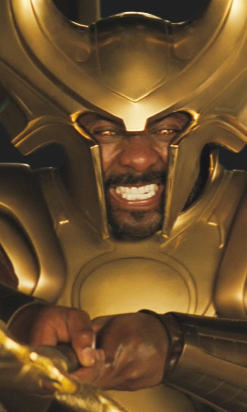 Idris Elba with Alexandra Byrne (Costume Designer) Custom Made 'Heimdell' Costume in Thor