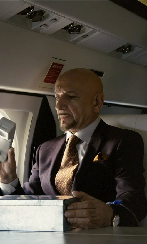 Ben Kingsley with Burberry Slim Fit Travel Tailoring Wool Sharkskin Suit in Self/Less