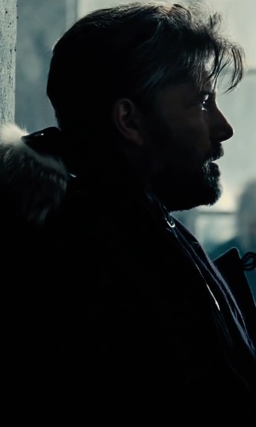 Ben Affleck with Canada Goose Langford Parka Coat with Fur-Trimmed Hood in Justice League