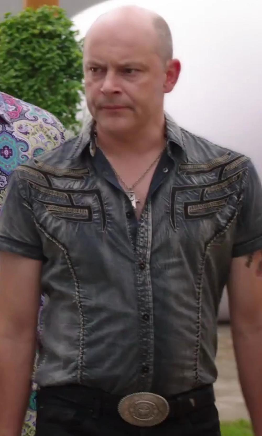 Rob Corddry with Maison Martin Margiela Brand Plaque Belt in Hot Tub Time Machine 2