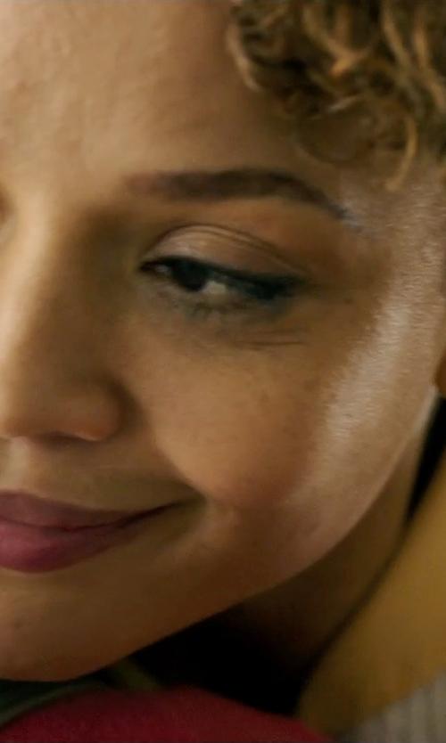 Carmen Ejogo with Nadri Faux Pearl Stud Earrings in The Purge: Anarchy