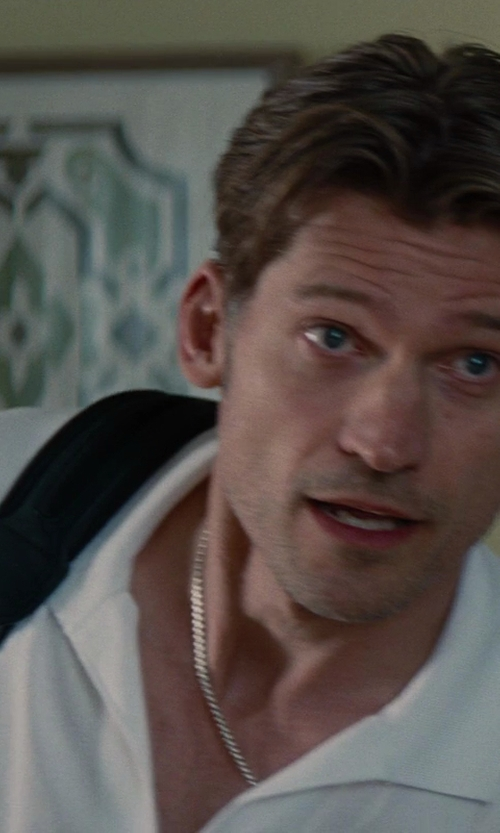 Nikolaj Coster-Waldau with David Yurman Small Wheat Chain Necklace in The Other Woman