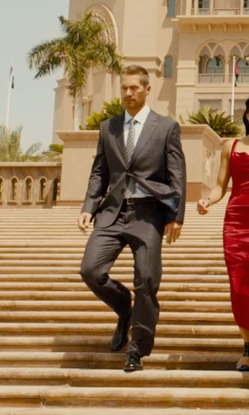 Paul Walker with Dolce & Gabbana Two Piece Suit in Furious 7