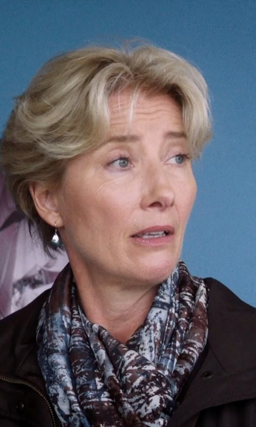 Emma Thompson with Max Mara Owl Print Modal & Cashmere Scarf 	 in A Walk in the Woods